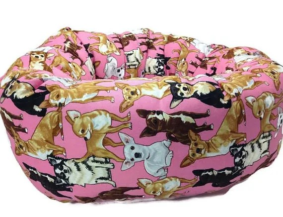 Chihuahua Round Bolster Size: Large (30