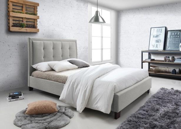 Lazaro Upholstered Platform Bed Color: Oat, Size: Queen