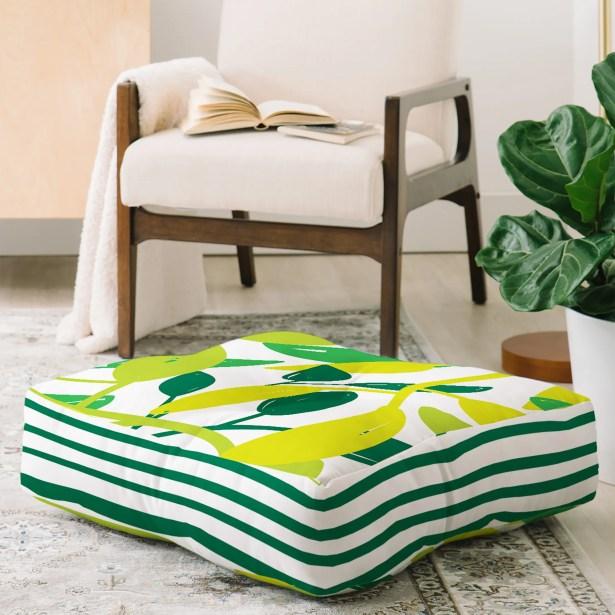 Sam Osborne Jungle Creepers Floor Pillow