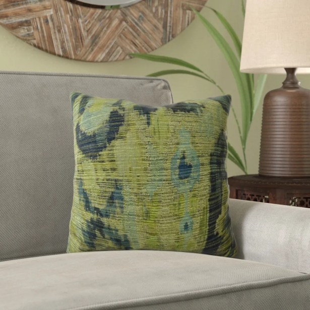 Fenland Ikat Luxury Pillow Fill Material: Cover Only - No Insert, Size: 12