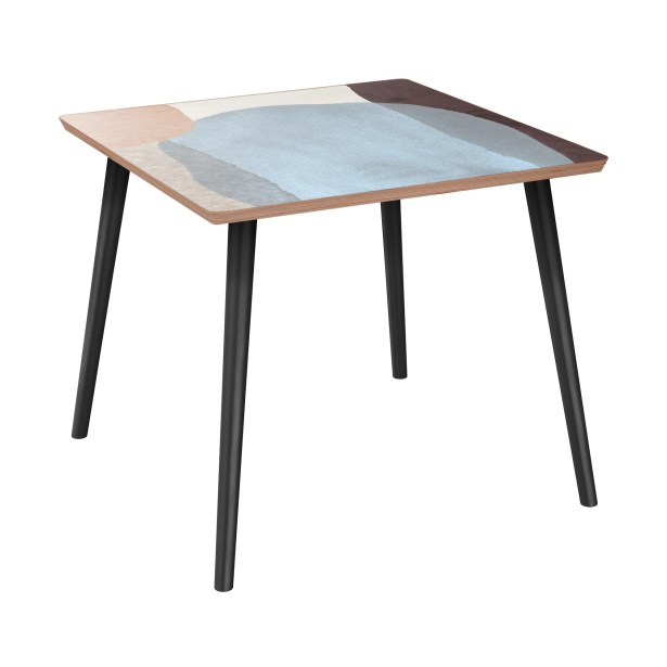 Ewert End Table Table Base Color: Black, Table Top Color: Walnut