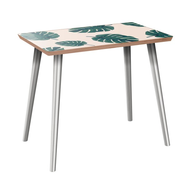 Kori End Table Table Base Color: Chrome, Table Top Color: Walnut