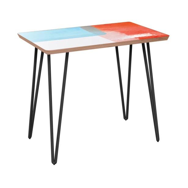 Esmont End Table Table Base Color: Black, Table Top Color: Walnut