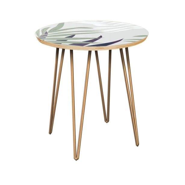 Irvona End Table Table Top Color: Natural, Table Base Color: Brass