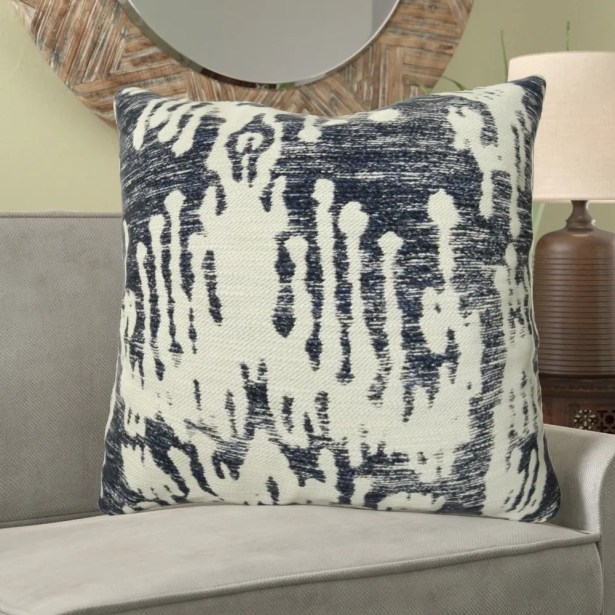 Fenland Ikat Luxury Designer Couch Pillow Fill Material: H-allrgnc Polyfill, Size: 20