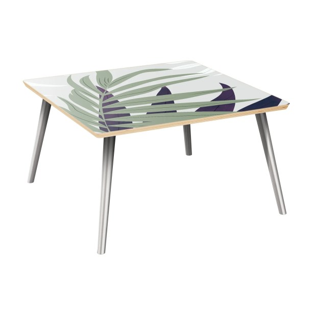 Schiffer Coffee Table Table Top Color: Natural, Table Base Color: Chrome