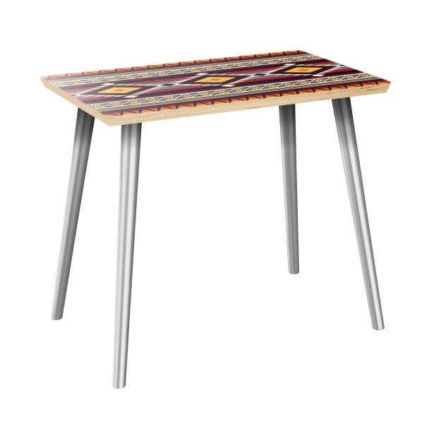 Ivo End Table Table Top Color: Natural, Table Base Color: Chrome