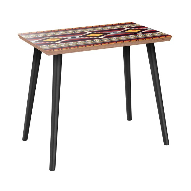 Ivo End Table Table Base Color: Black, Table Top Color: Walnut