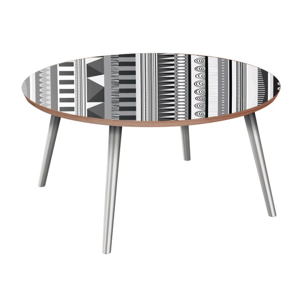 Hunziker Coffee Table Table Base Color: Chrome, Table Top Color: Walnut