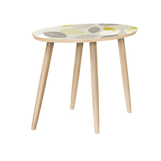 Fatuberlio End Table Table Base Color: Natural, Table Top Color: Green/Brown