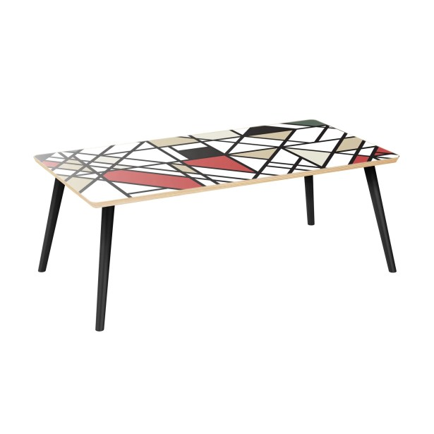 Joline Coffee Table Table Top Color: Natural, Table Base Color: Black