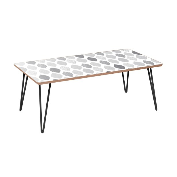 Kaci Coffee Table Table Base Color: Black, Table Top Color: Walnut