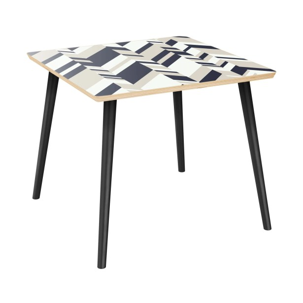 Gadson End Table Table Top Color: Natural, Table Base Color: Black