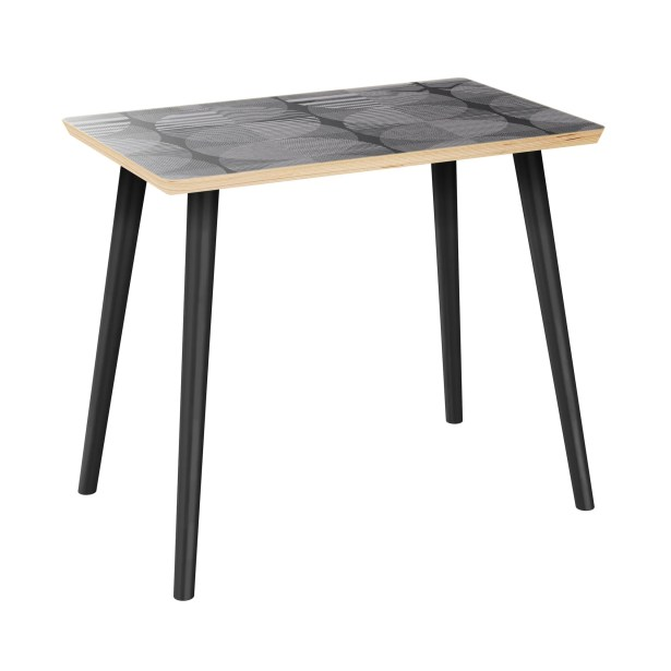 Evangelista End Table Table Top Color: Natural, Table Base Color: Black