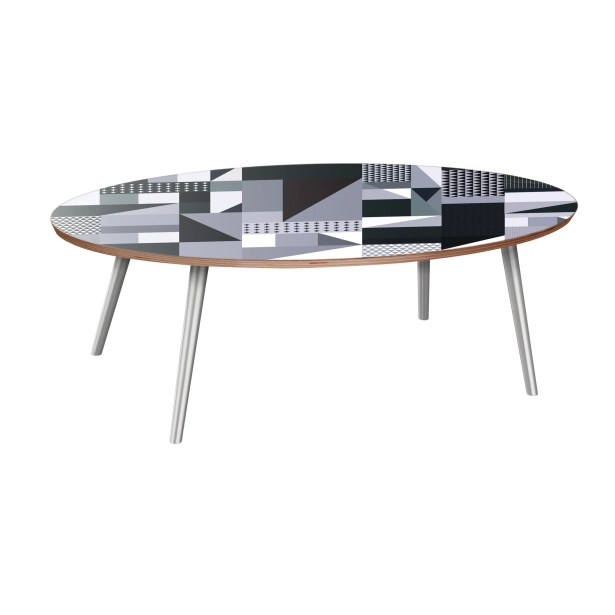 Scalise Coffee Table Table Base Color: Chrome, Table Top Color: Walnut