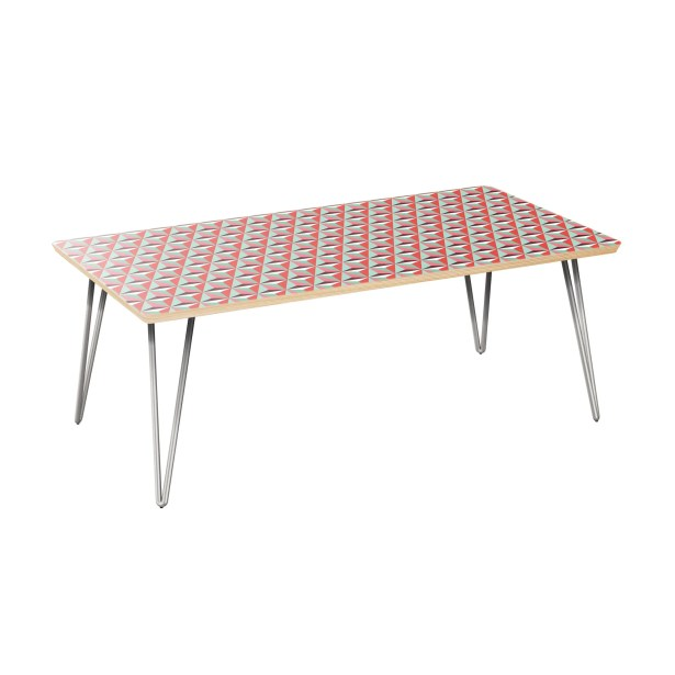 Scholten Coffee Table Table Top Color: Natural, Table Base Color: Chrome