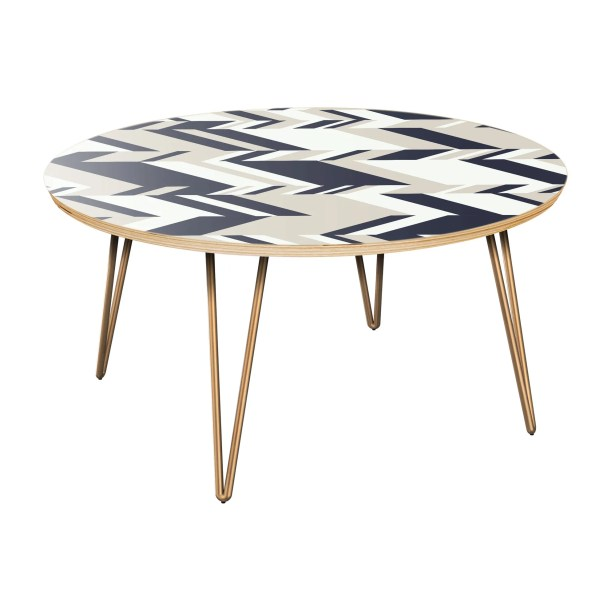 Furness Coffee Table Table Top Color: Natural, Table Base Color: Brass