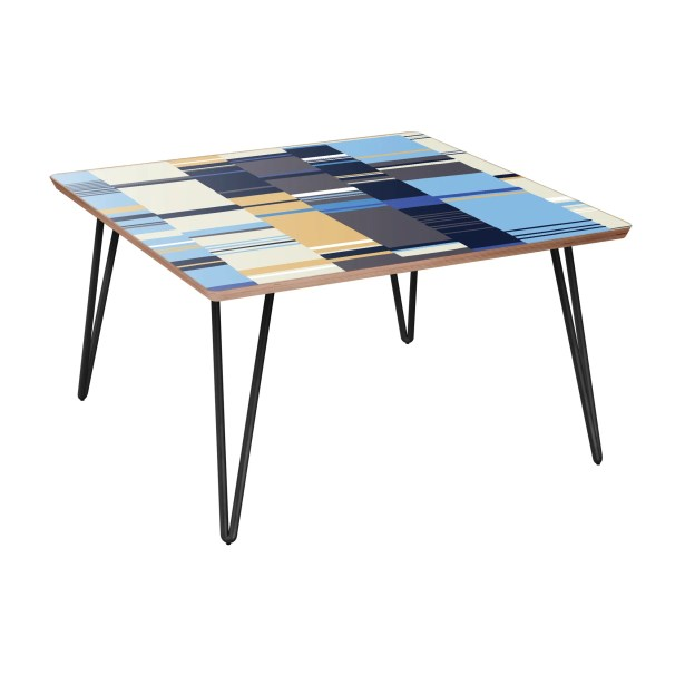 Ranck Coffee Table Table Top Color: Walnut, Table Base Color: Black