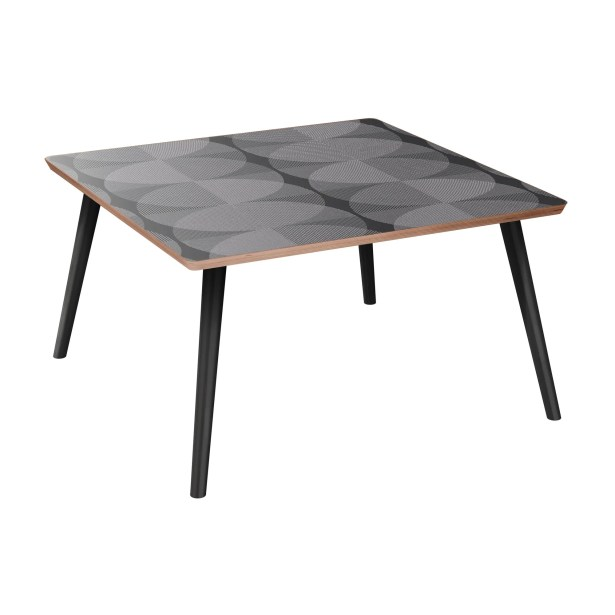 Ewald Coffee Table Table Base Color: Black, Table Top Color: Walnut