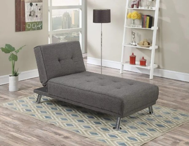 Sunseri Modern Living Room Adjustable Reclining Chaise Lounge with Cushion