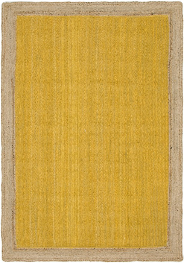 Swartwood Hand-Braided Yellow Area Rug Rug Size: Rectangle 6' x 9'