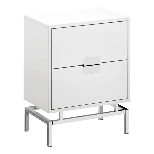 Lumet End Table Table Base Color: Chrome, Table Top Color: Glossy White