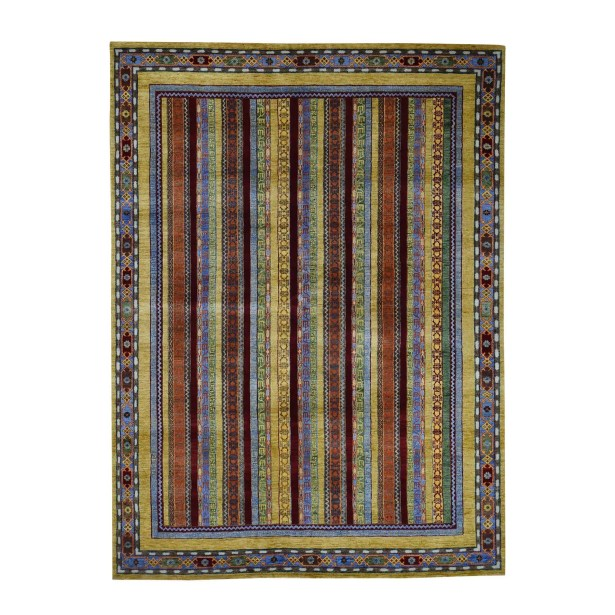 One-of-a-Kind Pietrzak Shawl Oriental Hand-Knotted Yellow/Green Area Rug