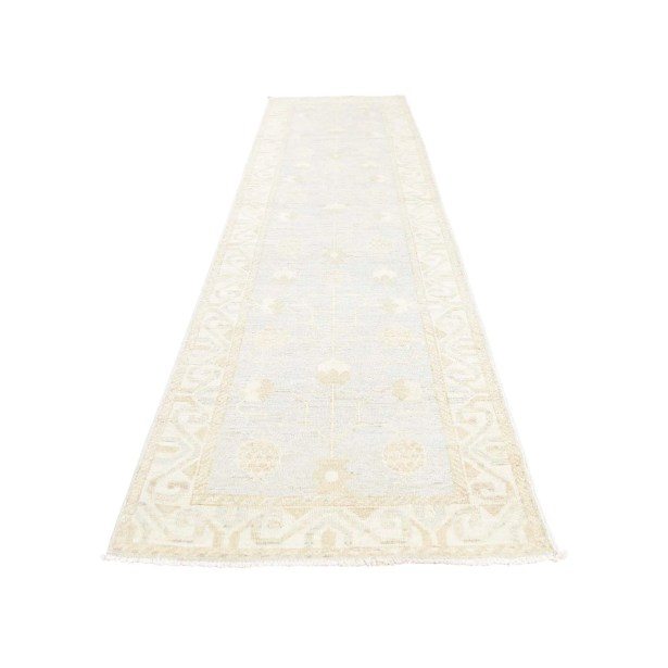 One-of-a-Kind Genthner Wash Samarkand with Pomegranate Hand-Knotted Blue Area Rug