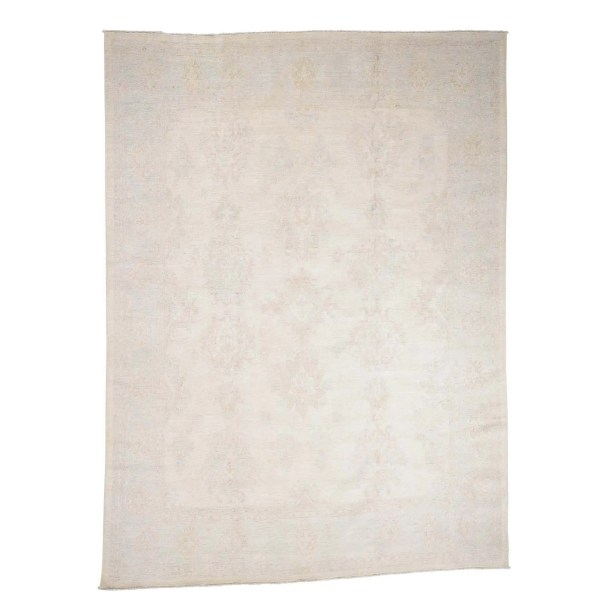 One-of-a-Kind Pontiff Wash Peshawar Oriental Hand-Knotted Ivory Area Rug