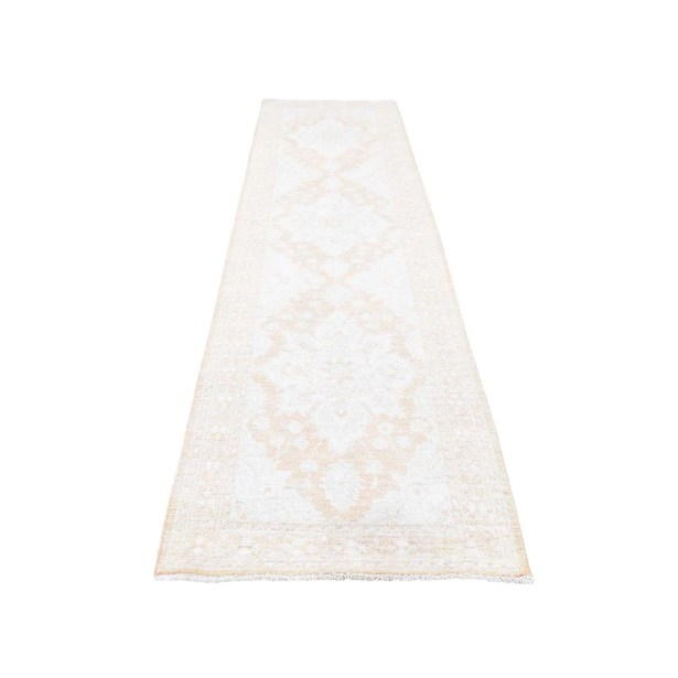 One-of-a-Kind Drolet Wash Peshawar Oriental Hand-Knotted Beige Area Rug