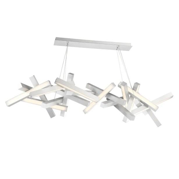 Chaos 19-Light LED Geometric Chandelier Finish: Brushed Aluminum