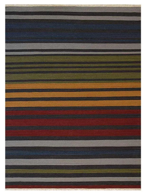 Housel Handmade Kilim Wool Green/Blue Area Rug Rug Size: Rectangle 6' x 9'