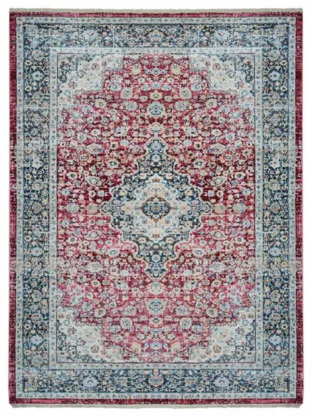 Hartshorn Red/Blue Area Rug Rug Size: Rectangle 10' x 13'