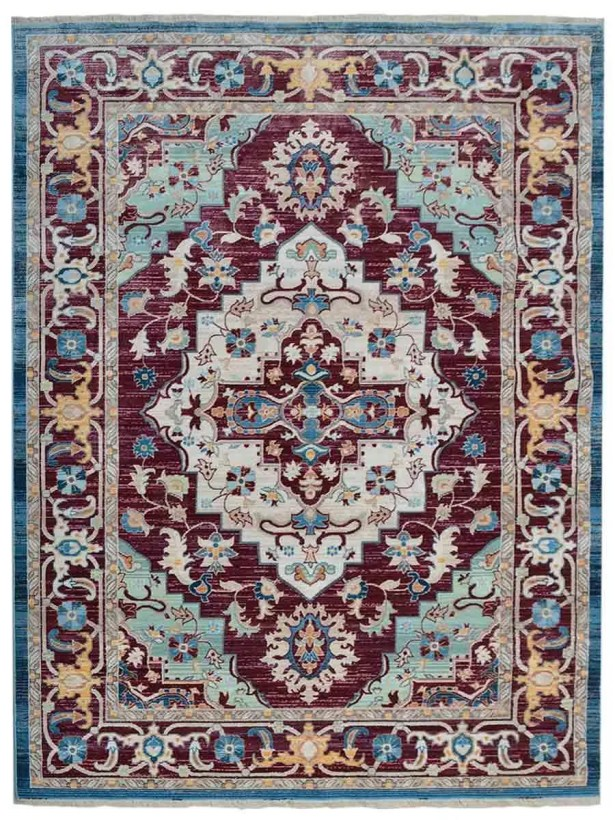 Hartshorn Red/Blue Area Rug Rug Size: Rectangle 9' x 12'