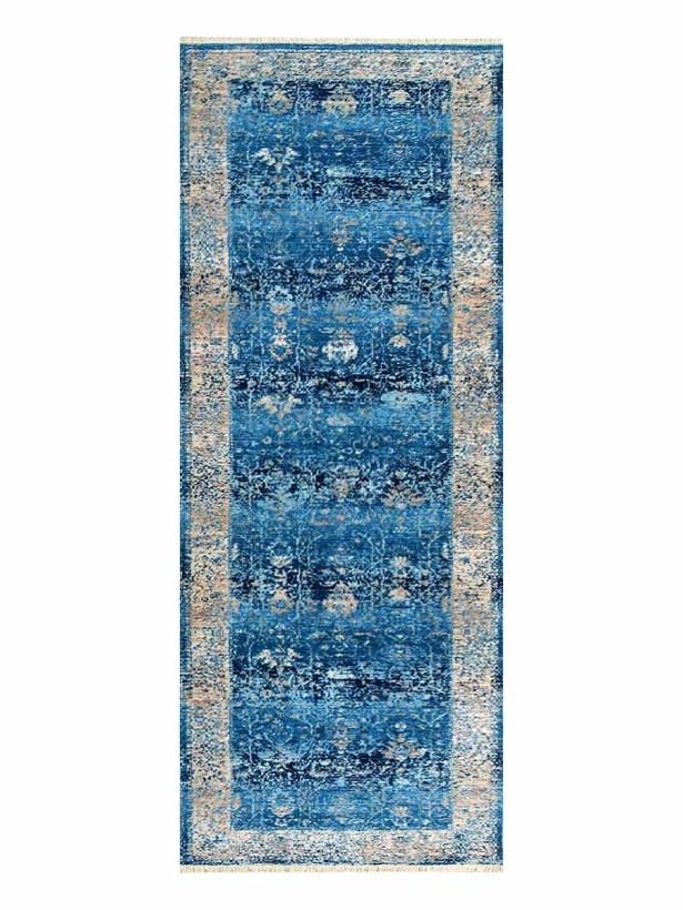Hartshorn Crossweave Blue/Beige Area Rug Rug Size: Runner 4'5