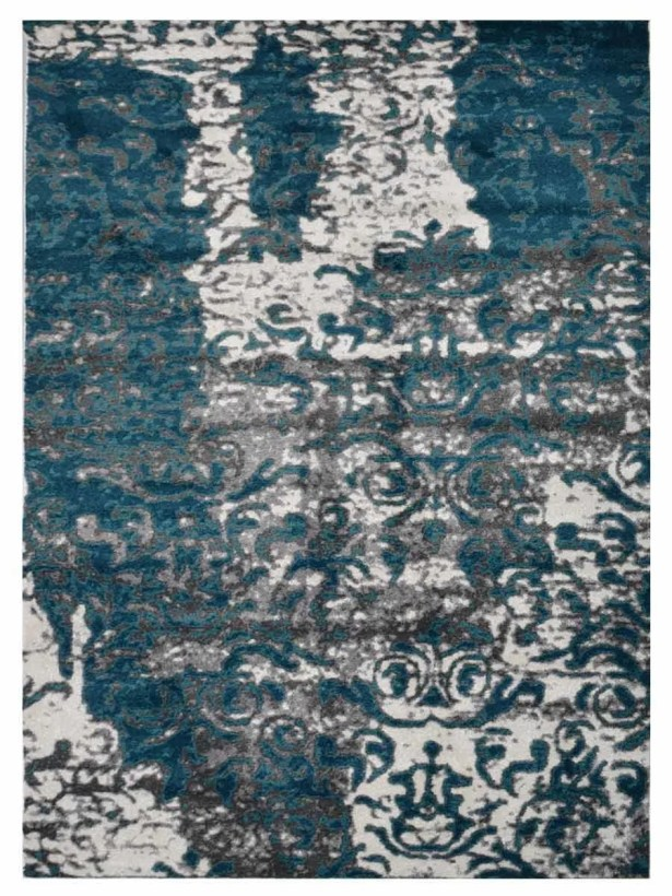 Hartshorn Blue/Gray Area Rug Rug Size: Rectangle 6'7