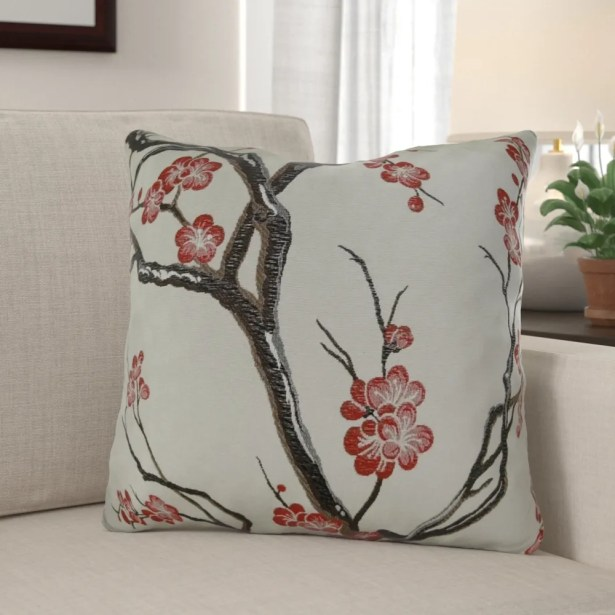 Krauthamer Cherry Blossom Luxury Pillow Fill Material: H-allrgnc Polyfill, Size: 12