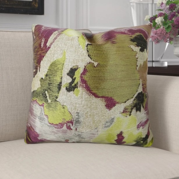 Eells Fuchsia Citrine Greige Luxur Pillow Fill Material: 95/5 Feather/Down, Size: 16