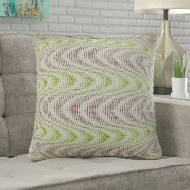 Mcmartin Wavy Swirl Pillow Fill Material: Cover Only - No Insert, Size: 16