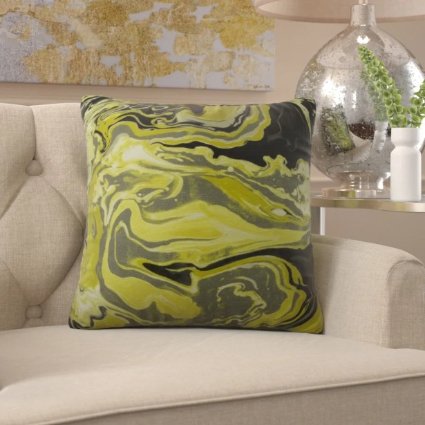 Frary Marble Pattern Pillow Fill Material: H-allrgnc Polyfill, Size: 20