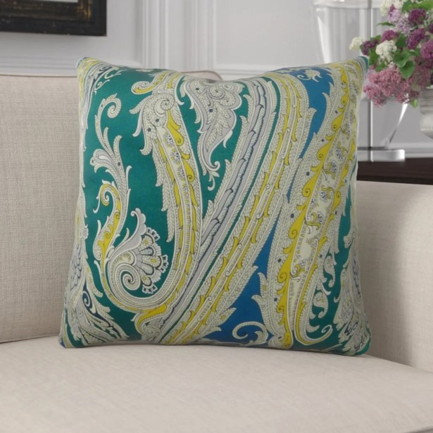 Edmiston Paisley Luxury Pillow Fill Material: H-allrgnc Polyfill, Size: 20