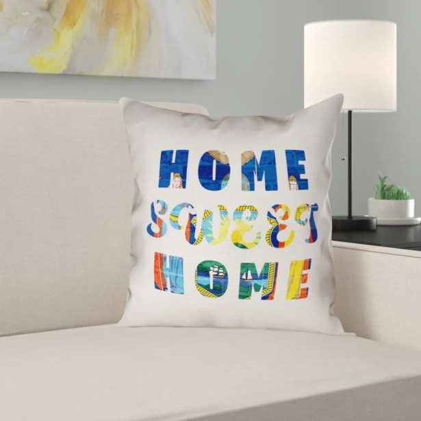 Centeno Home Sweet New York Pillow Case Size: 18