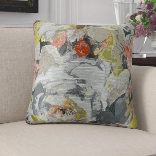 Edmonds Floral Greige Luxury Pillow Size: 20