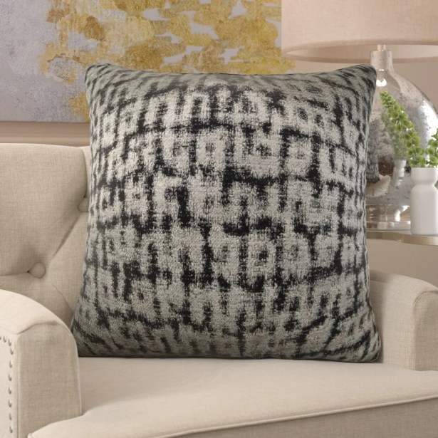 Frederick Luxury Metallic Pillow Size: 24
