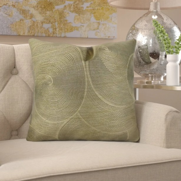 Jorgenson Muted Pewter Stardust Luxury Pillow Fill Material: Cover Only - No Insert, Size: 12