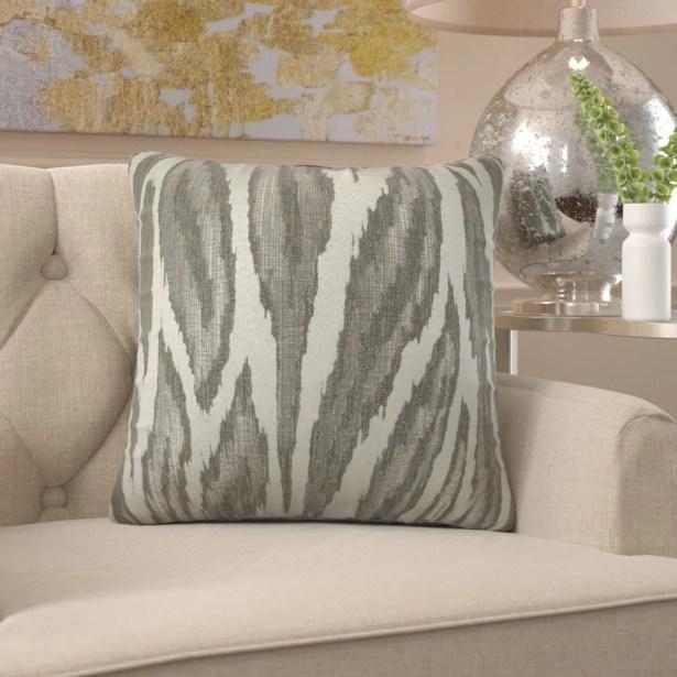 Freda Metallic Glacier Luxury Pillow Size: 12