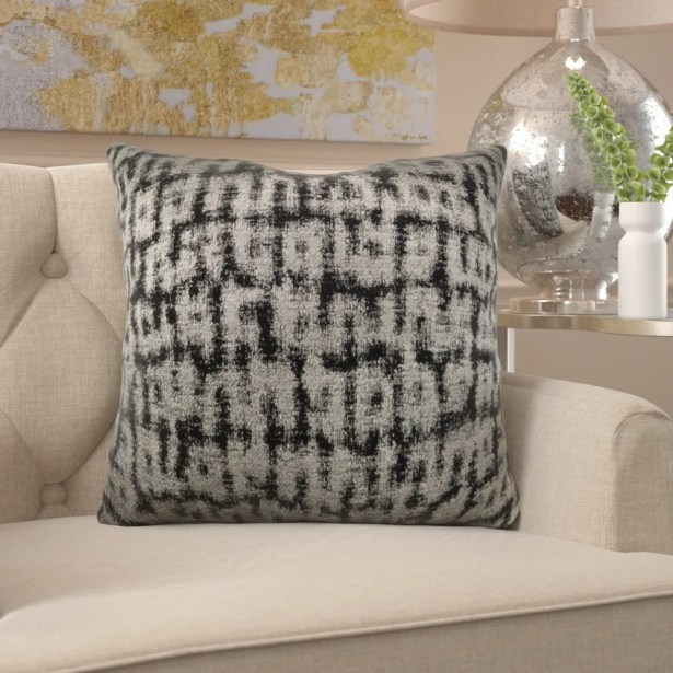 Frederick Luxury Metallic Pillow Fill Material: Cover Only - No Insert, Size: 20