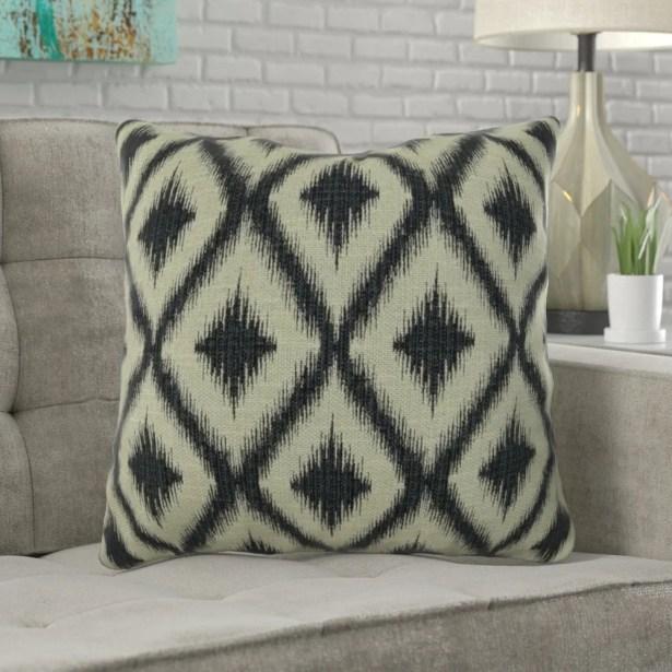 Mcmann Diamond Pattern Pillow Size: 12