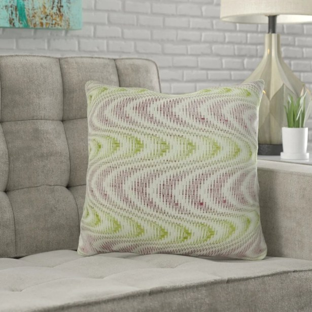 Mcmartin Wavy Swirl Pillow Fill Material: 95/5 Feather/Down, Size: 12