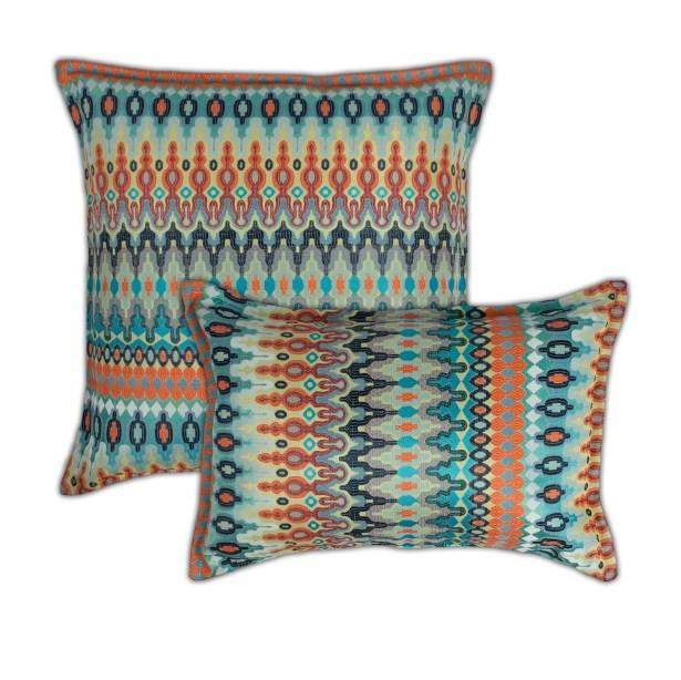 Aurora 2 Piece Combo Pillow Set Color: Orange/Blue